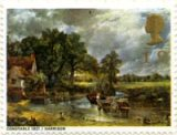 Constable's painting The Hay Wain as it appeared on a stamp in 1968