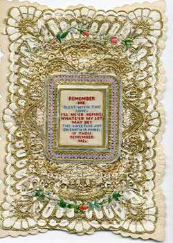 An embroidered Valentines Day card from Bruce Castle's postal history collection