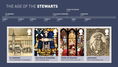 The Age of the Stewarts miniature sheet