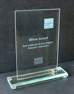 The BPMA Award for Favourite Stamp Display in Show