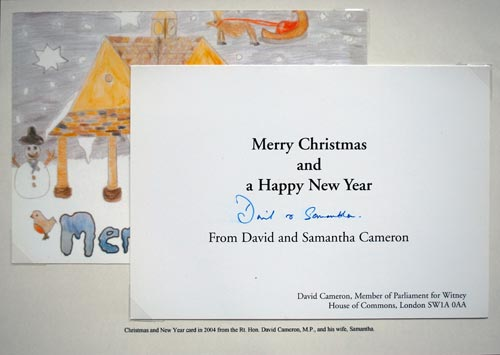 Christmas card from David and Samantha Cameron, 2004