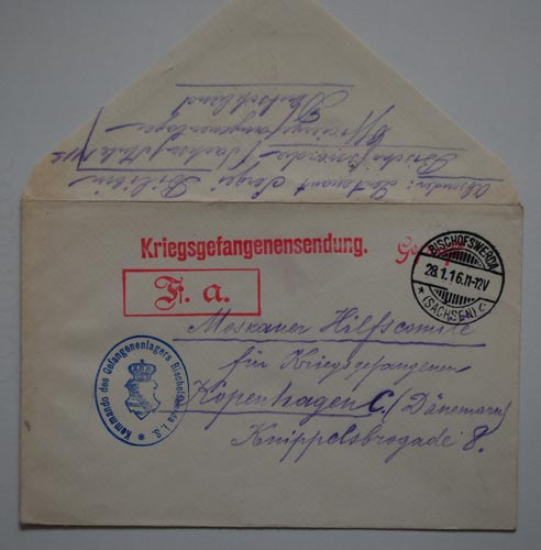 World War One prisoner-of-war mail