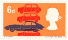British Motorcars, part of the British Technology stamp issue of 1966