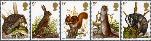 British Wildlife stamps, 1977