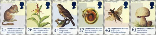 Endangered Species stamps, 1998