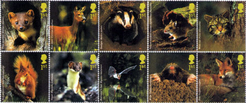 Woodland Animals stamps, 2004