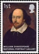 The National Portrait Gallery: William Shakespeare stamp, 2006
