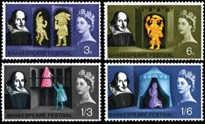 Shakespeare Festival stamps, 1964