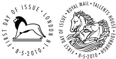 The King's Stamps first day of issue postmarks