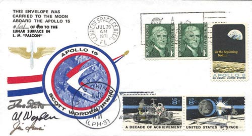 One of the controversial Apollo 15 covers