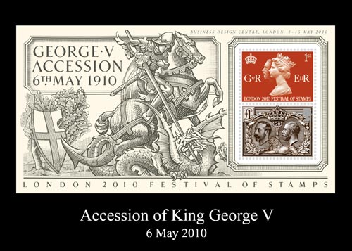 The Accession of King George V miniature sheet