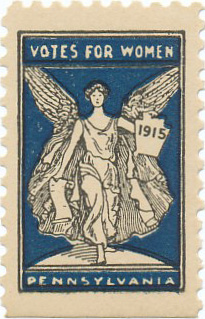 US stamp commemorating Votes for Women