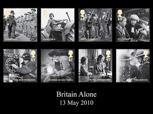 The Britain Alone stamps