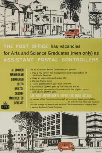 A 1964 Post Office recruitment poster