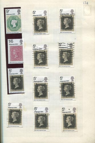 Stamps from Philympia 1970 from Frank Steel's stamp album