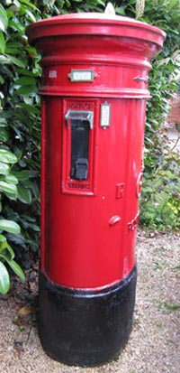 Colne Valley Postal History Museum's Type D pillar box, 1932