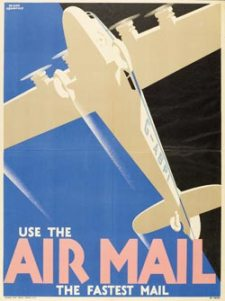 Use the Air Mail the Fastest Mail, designed by Frank Newbould