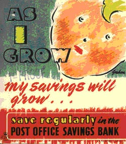 As I grow, My savings will grow. Save regularly with the Savings Bank