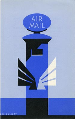Leaflet advertising the airmail service