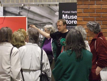 BPMA Curator Chris Taft giving a tour