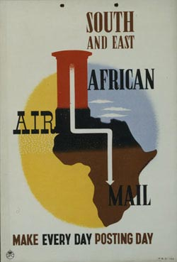 Poster: South and East African Air Mail - Make every day posting day