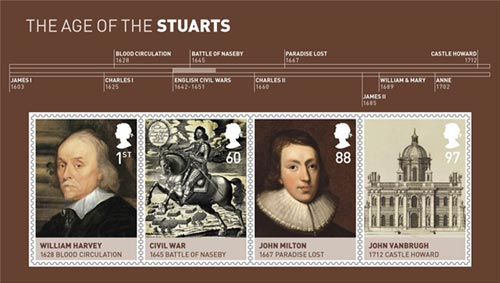 The Age of the Stuarts miniature sheet