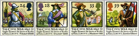 The English Civil Wars were previously commemorated on stamps in 1992