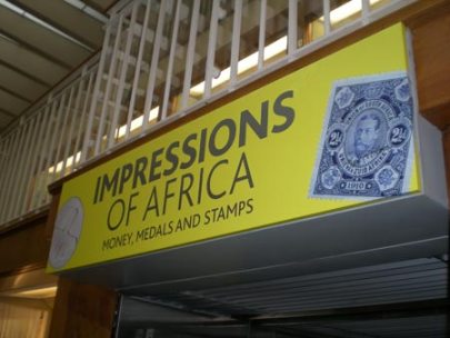 Impressions of Africa: Money, Medals and Stamps, an exhibition in Room 69a at the British Museum