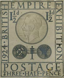 Eric Gill's un-adopted design for the British Empire Exhibition stamp of 1924