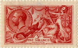 "Bertram Mackennal's ""Seahorses"" stamp design, issued 1913"