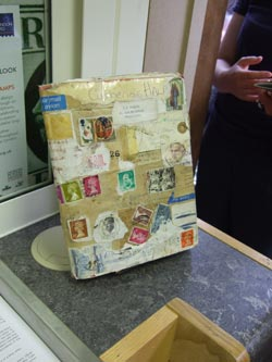 Mail art on display