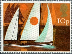 Cruising Yachts stamp from the Sailing issue, 1975