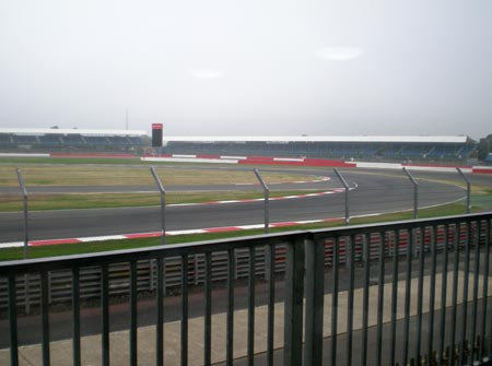 The racing circuit at Silverstone