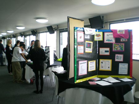 Stands created by students from Key Stages 3 and 4