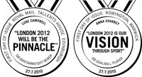 First Day of Issue postmarks for London 2012 stamps (2010)