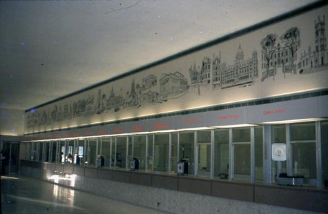 Ronald Maddox's mural for Liverpool Head Post Office (Photo courtesy Ronald Maddox)