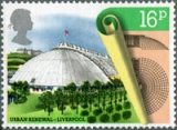 Garden Festival Hall, Liverpool stamp from the Urban Renewal issue, 1984
