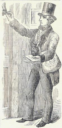 A letter carrier in the new uniform, The Illustrated Glasgow News, 30 June 1855