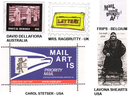 Mail art from all over the world
