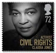 Claudia Jones appeared on a stamp as part of the Women of Distinction issue, 2008