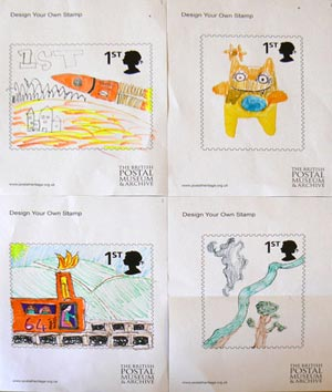 Some of the creative designs for stamps