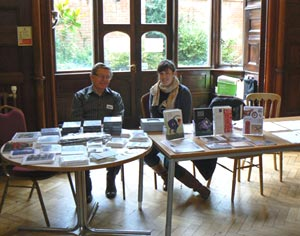 BPMA Friend Richard West and Exhibitions Officer Alison Norris staff the BPMA table