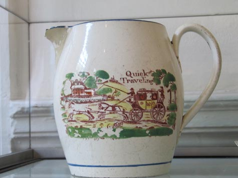 Mail Coach Bristol Ware jug from the Morten Collection