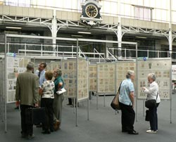 Competitive stamp displays at Stampex