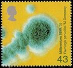 Penicillin mould (Fleming's discovery of penicillin) from Millenium Series. The Patients' Tale issue, 1999 (designer: Mike Dempsey)
