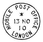 Handstamp created for use on the commemorative cover postcard based on the original GPO2 cancellation