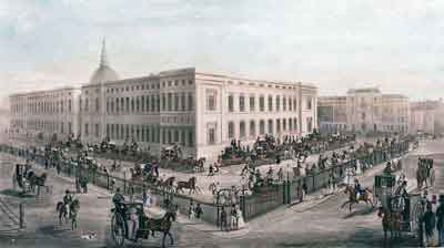 The Royal Mails departure from The General Post Office, 1830.