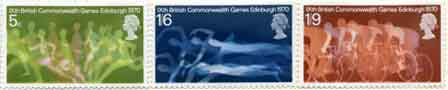 1970 Ninth British Commonwealth Games, Edinburgh commemorative stamps