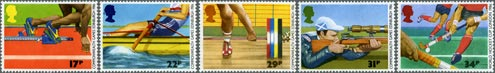 13th Commonwealth Games, Edinburgh & World Hockey Cup for Men, London stamps (1986)