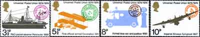 Centenary of the Universal Postal Union stamps, 1974